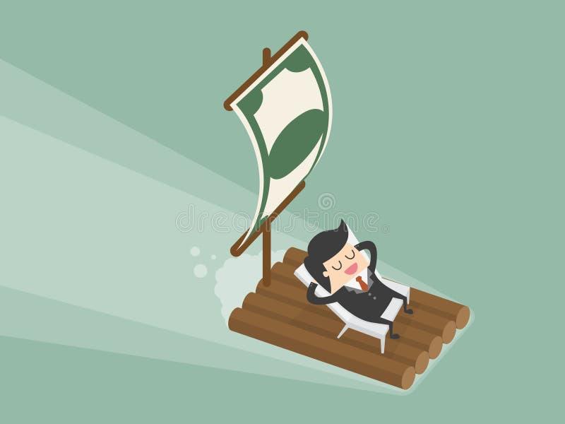 Пассивный доход иллюстрация вектора