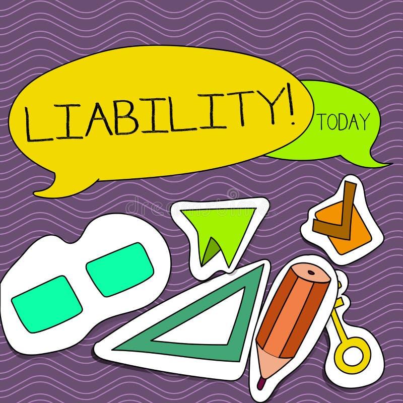 Пассив текста сочинительства слова Концепция дела для государства быть законно ответственный за что-то ответственность 2 иллюстрация вектора