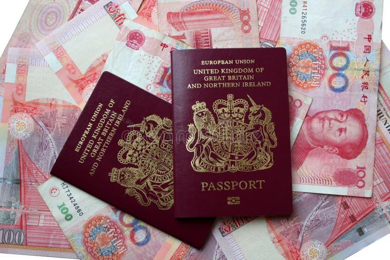пасспорты Великобритания стоковые фотографии rf