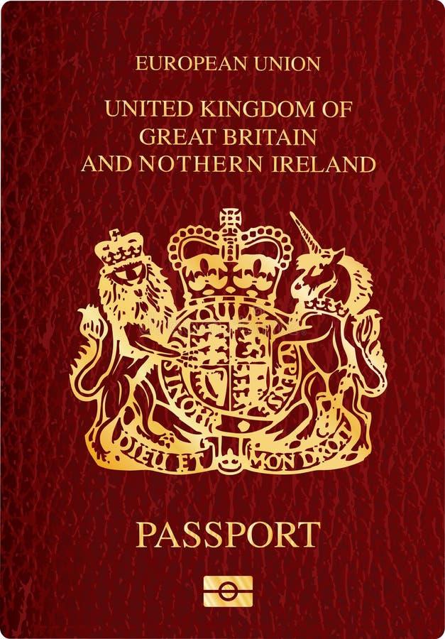 пасспорт Великобритания бесплатная иллюстрация