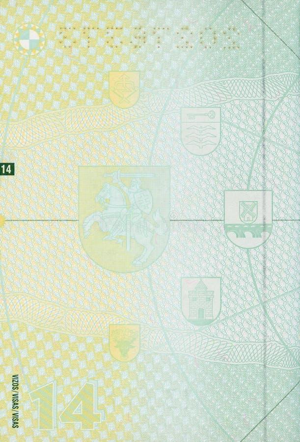 пасспорт пустой страницы стоковое изображение rf