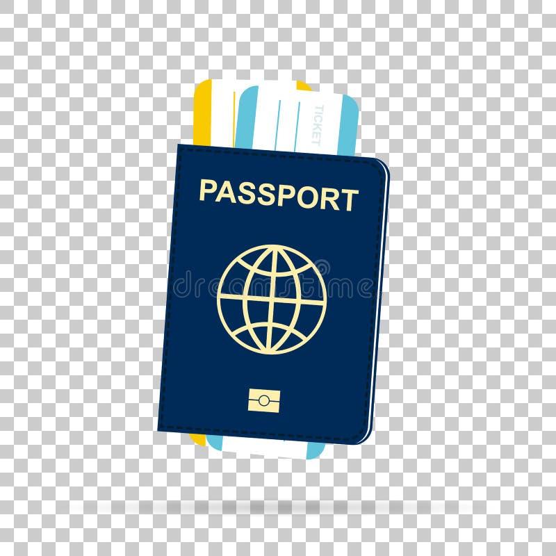 Пасспорт с билетами иллюстрация штока