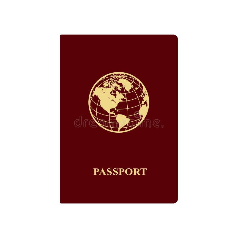 пасспорт иллюстрация вектора