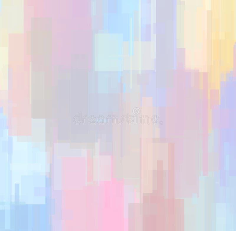 Пастельная покрашенная преграждая предпосылка в розовых и оранжевых тенях цвета бесплатная иллюстрация