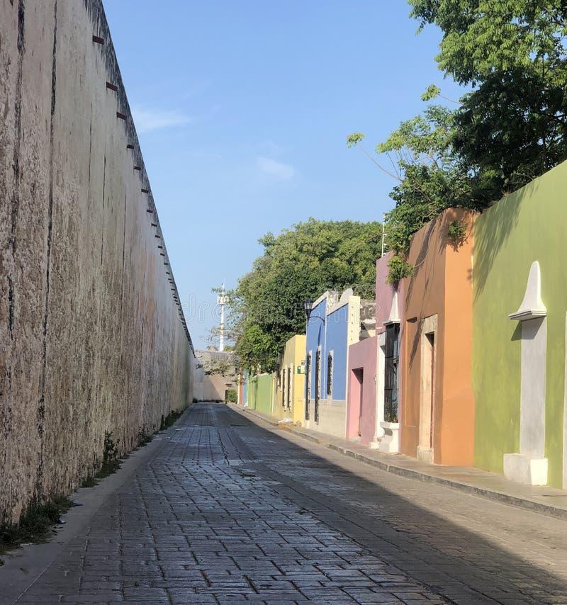 Пастельные входы радуги в Кампече Мексике стоковое фото