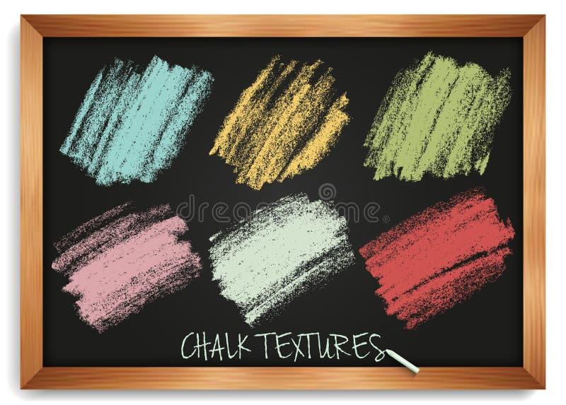 Пастельные тени щеток Мазки мел Винтажные текстуры на классн классном Высокое изображение разрешения бесплатная иллюстрация