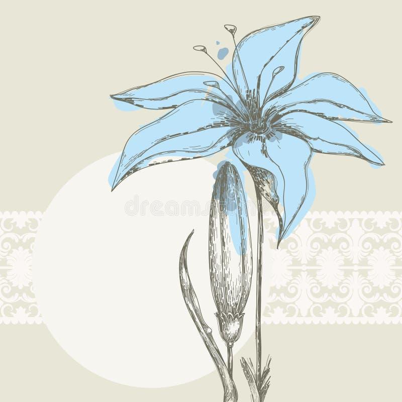 пастель предпосылки флористическая иллюстрация вектора