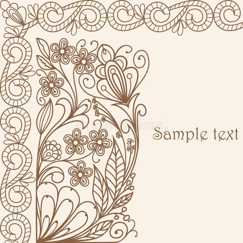 пастель приветствию карточки иллюстрация штока