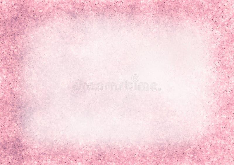 Пастельная нарисованная текстурированная предпосылка в розовых цветах иллюстрация штока