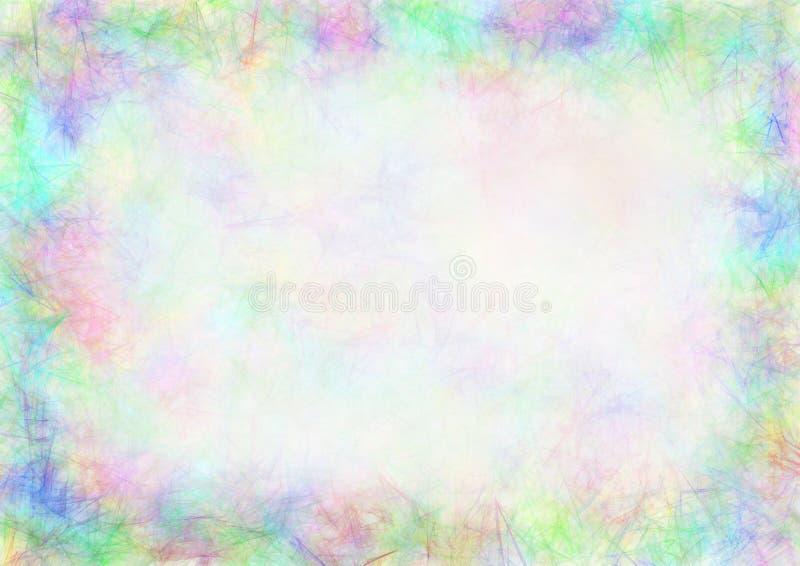 Пастельная нарисованная текстурированная предпосылка иллюстрация вектора