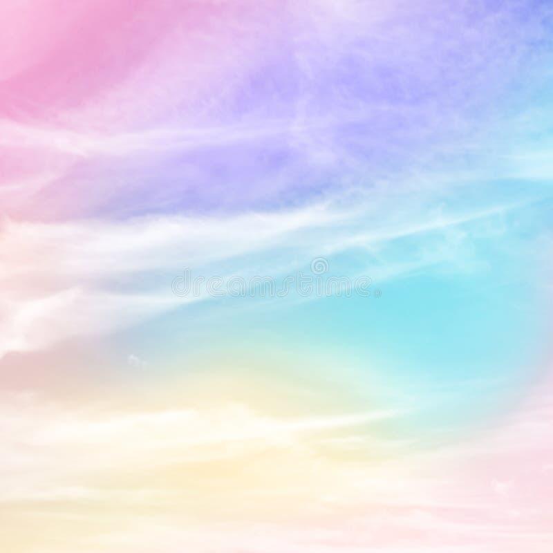 Пастельной предпосылка покрашенная радугой стоковые изображения rf