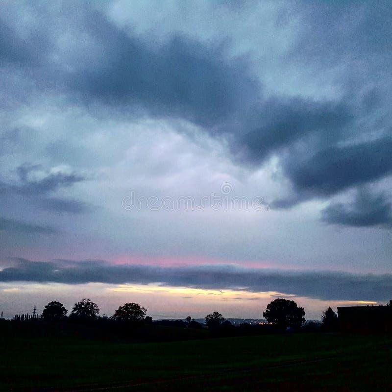 Пастельный восход солнца essex стоковые изображения