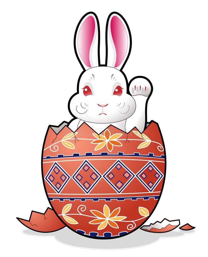 пасхальное яйцо зайчика стоковые фото