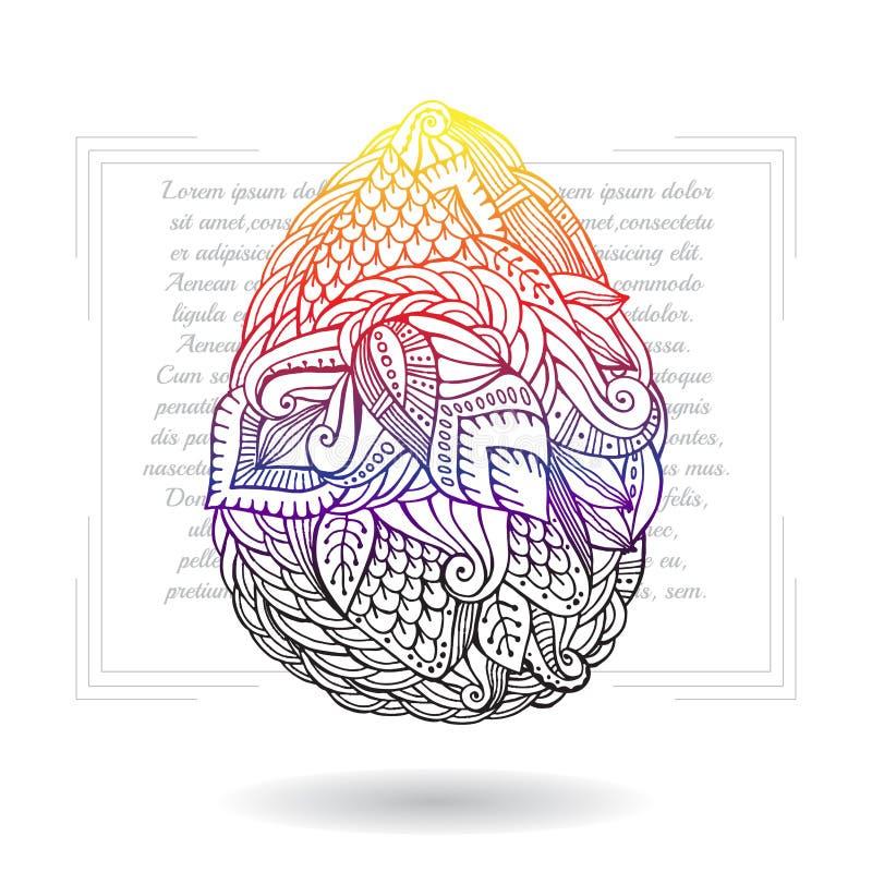 Пасхальное яйцо запаса Стиль doodle шаржа иллюстрация вектора