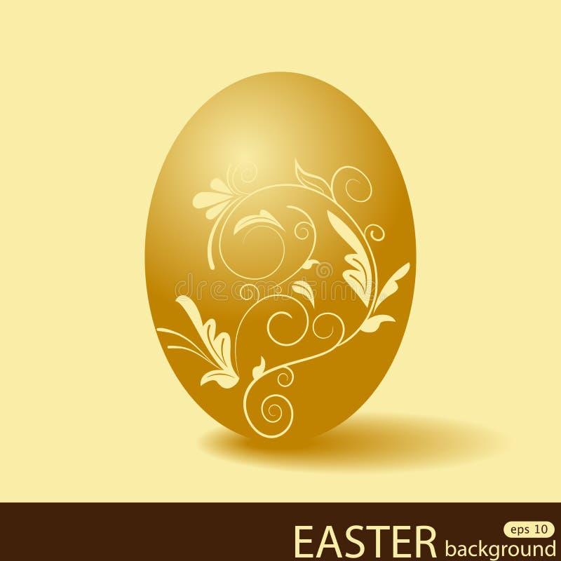 пасхальное яйцо золотистое бесплатная иллюстрация