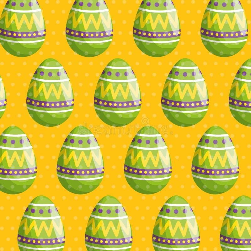 Пасхальное яйцо с диаграммами предпосылкой украшения бесплатная иллюстрация