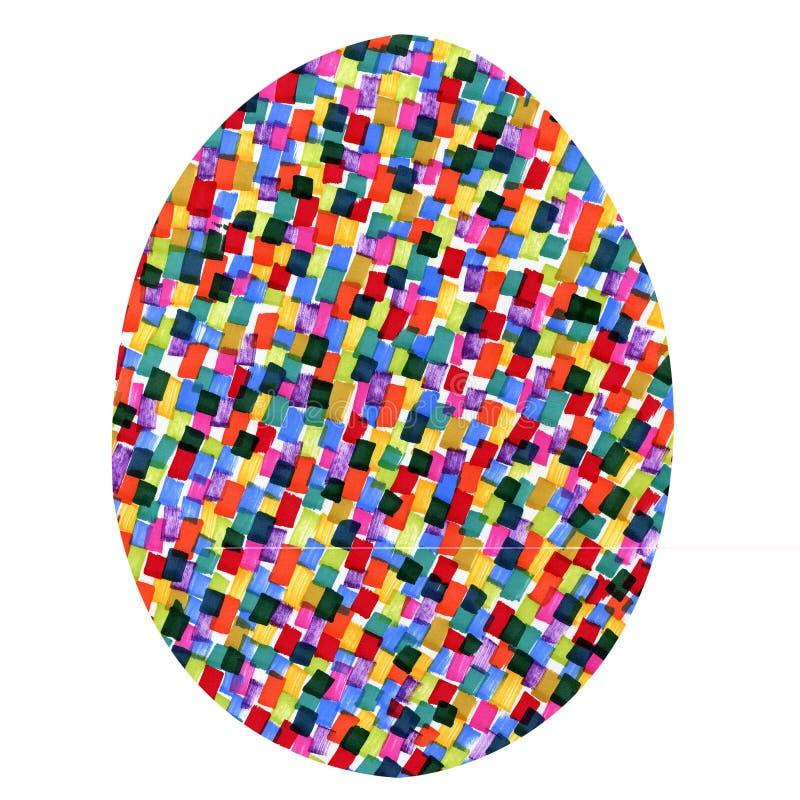 Пасхальное яйцо с пестроткаными пятнами иллюстрация штока