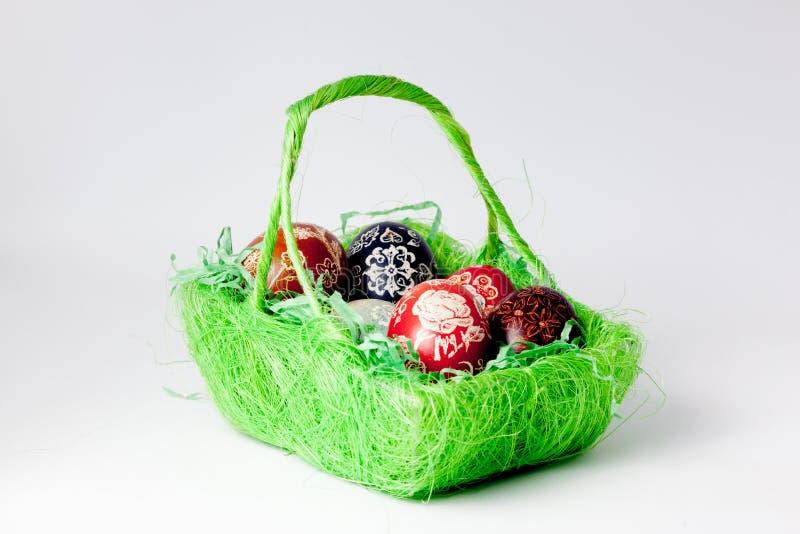 пасхальные яйца белые стоковое изображение