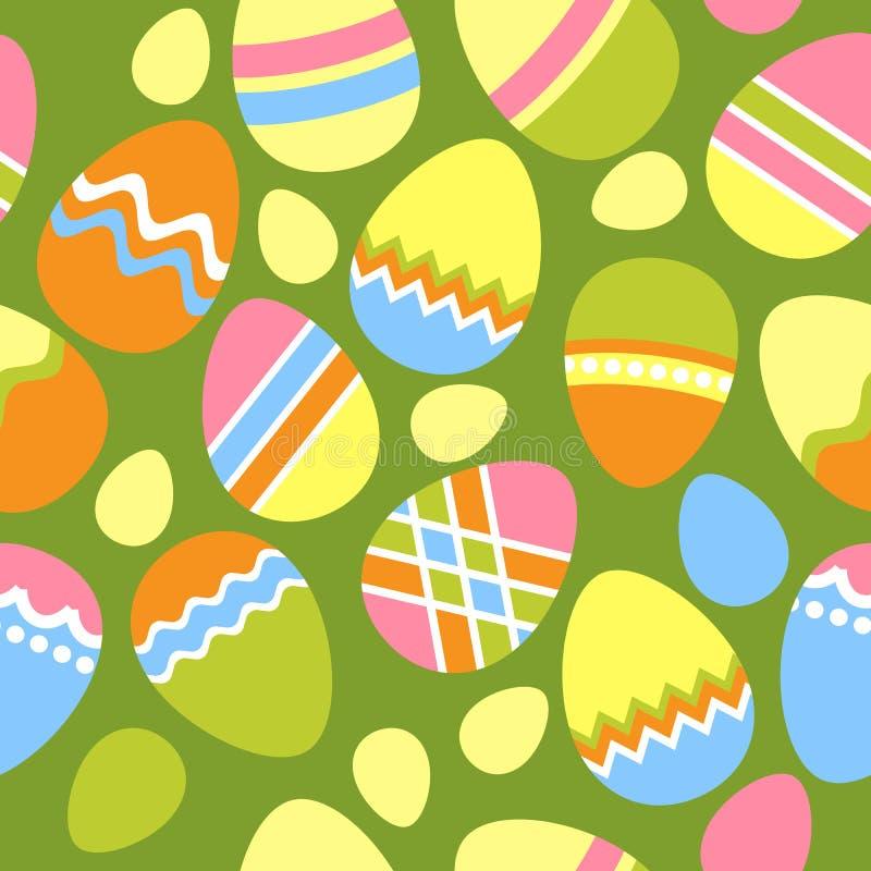 пасхальные яйца делают по образцу безшовное бесплатная иллюстрация