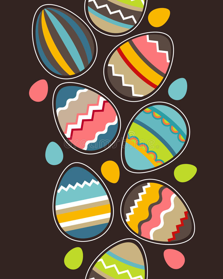 пасхальные яйца делают по образцу безшовную вертикаль бесплатная иллюстрация