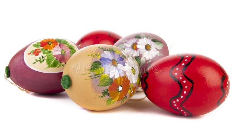 пасхальные яйца изолировали белизну стоковые изображения rf