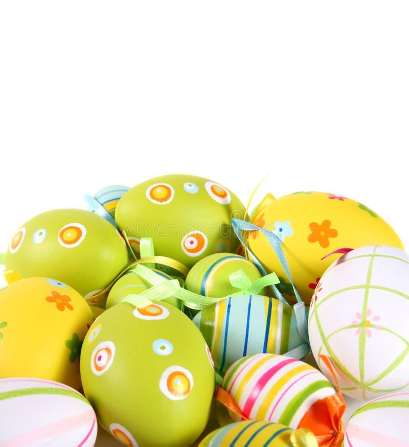 пасхальные яйца изолировали белизну стоковые фото