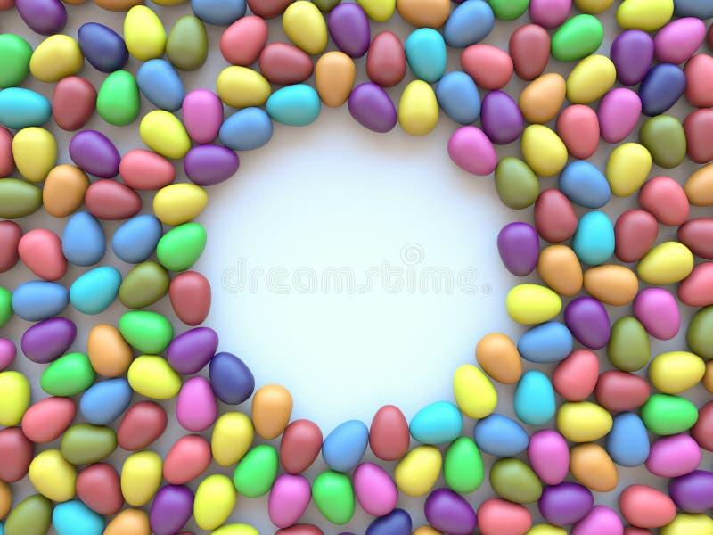 пасхальные яйца предпосылки цветастые белые стоковые фото