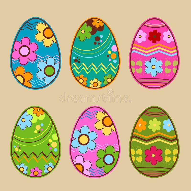 Пасхальные яйца иллюстрация штока