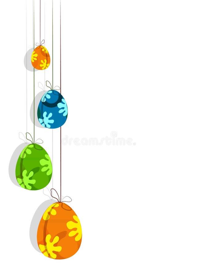пасхальные яйца 4 иллюстрация вектора