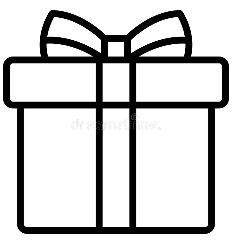 Пасха, подарок пасхи изолировала значок вектора который может легко доработать или отредактировать иллюстрация вектора