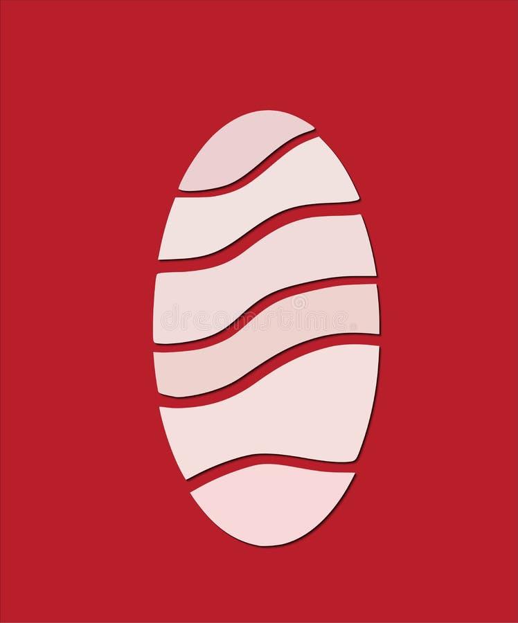 Пасхальное яйцо в взгляде отрезка бумаги стоковое изображение rf