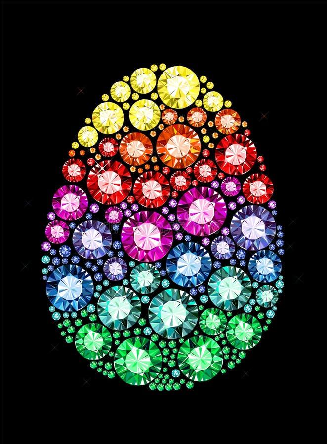 Пасхальное яйцо самоцвета бесплатная иллюстрация