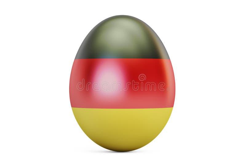 Пасхальное яйцо с флагом Германии, 3D иллюстрация штока