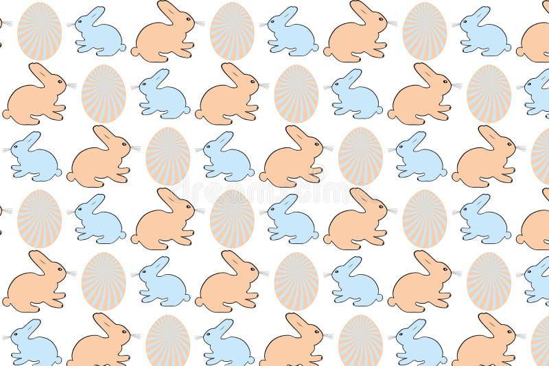 Пасхальные яйца и зайчики - иллюстрация запаса иллюстрация штока