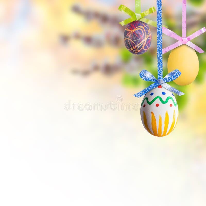 пасхальные яйца предпосылки стоковые изображения rf