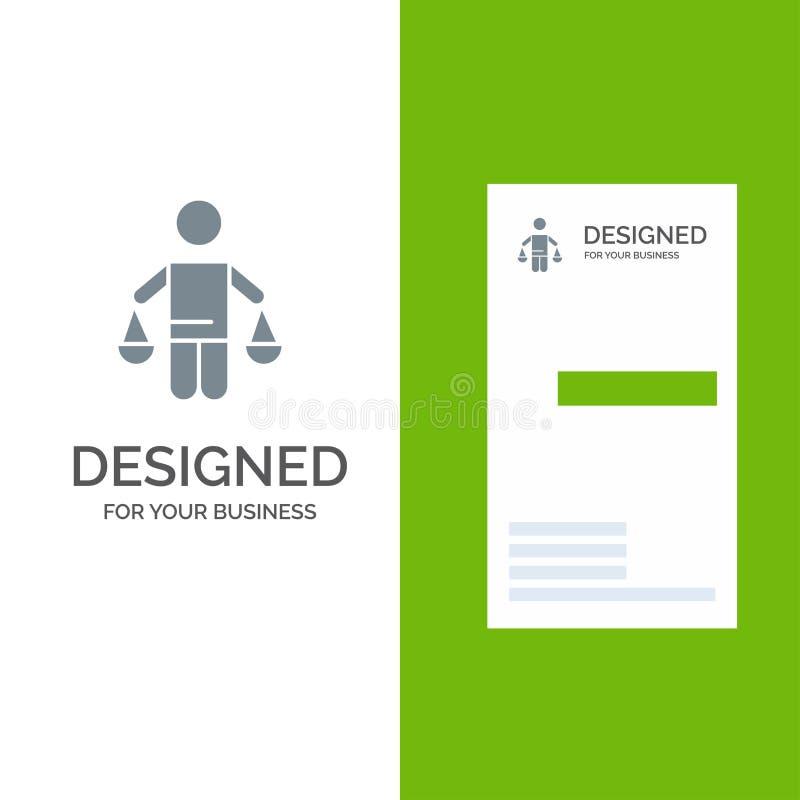 Патент, заключение, суд, суждение, дизайн логотипа закона серые и шаблон визитной карточки бесплатная иллюстрация