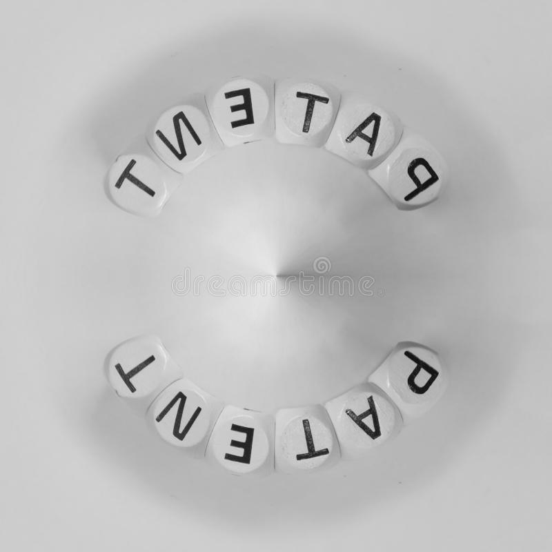 Патент слова аранжированный в циркуляре стоковое изображение rf