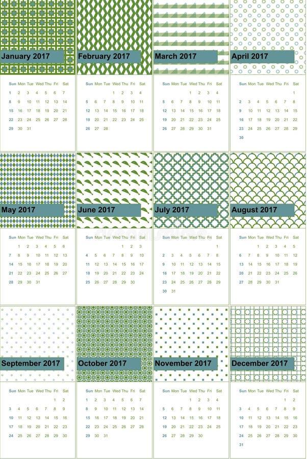 Патина и прованские однообразные покрашенные геометрические картины calendar 2016 бесплатная иллюстрация