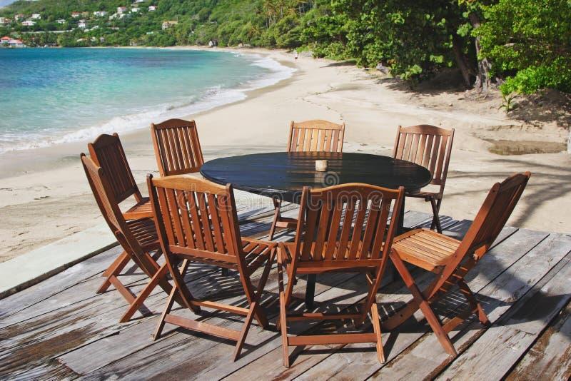 патио пляжа стоковое изображение