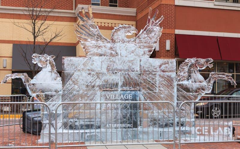 Патриотическая ледяная скульптура стоковое фото