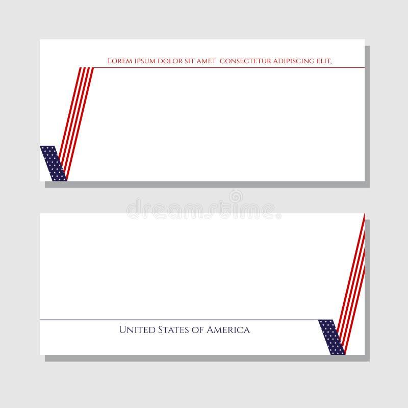Патриотическая карта контрольной пометки проверки сведений с элементом дизайна американского флага для брошюр знамен карт планов  иллюстрация штока