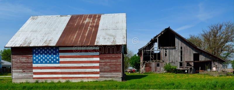 Патриотическая старая ферма стоковое изображение