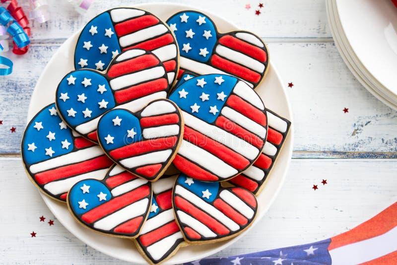 Патриотические печенья стоковое изображение