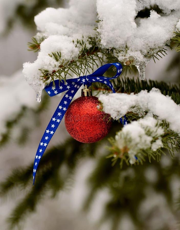 Патриотический орнамент рождества стоковая фотография rf
