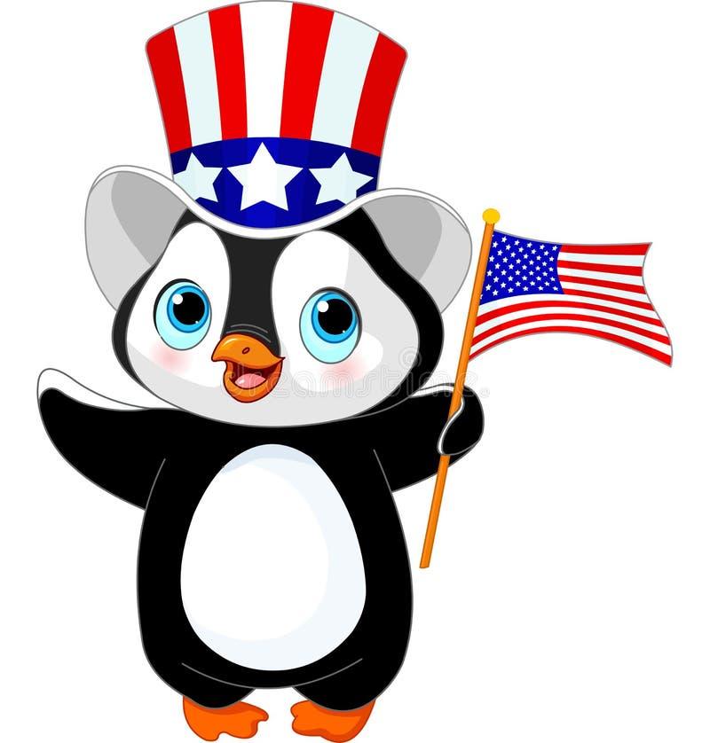 Патриотический пингвин иллюстрация штока