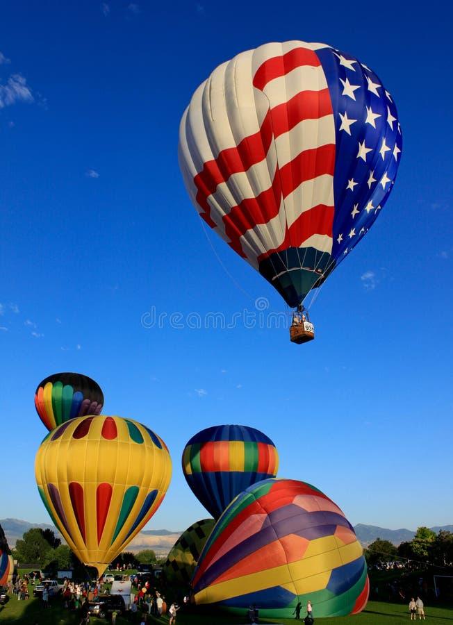 патриотическое воздушного шара горячее стоковое изображение rf