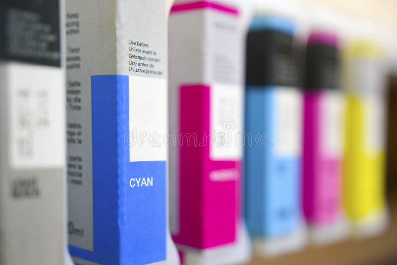 Патроны печатного станка цифров стоковое изображение