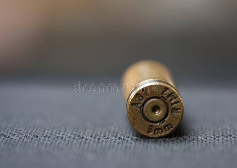 Патрон кожуха раковины пули 9 миллиметров (9mm) стоковые изображения