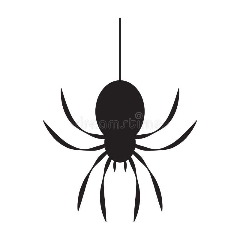 Паук черноты значка иллюстрация вектора