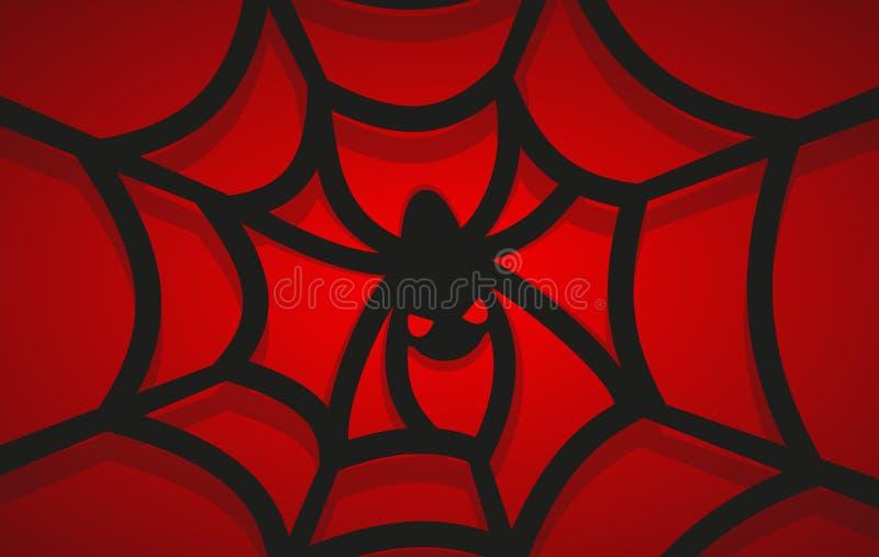 Паутина с пауком в центре также вектор иллюстрации притяжки corel иллюстрация штока
